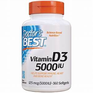 Doctor S Best Vitamin D3 5 000 Iu For Healthy Bones Teeth Heart And Immune Support Non Gmo