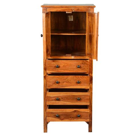 Wood Storage Cabinets With Drawers by Rustic Solid Wood 56 Storage Cabinet W 4 Drawers