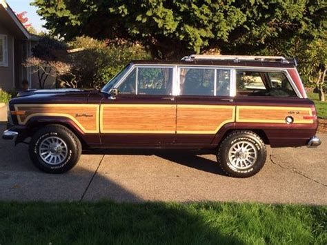 jeep wagoneer 1990 find used 1990 jeep grand wagoneer base sport utility 4