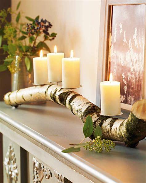 deko weihnachten holzstamm astkerzenleuchter for the home pinterest beautiful