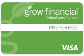 It's secured with money you deposit into a savings account. Grow Financial FCU Visa Platinum Preferred Secured Reviews (Mar. 2021)   Personal Credit Cards ...