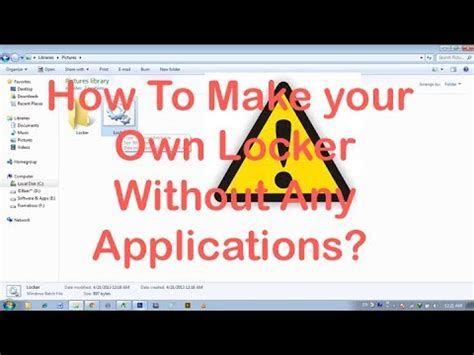 How To Make Your Own Application by How To Make Your Own Locker Without Any Applications