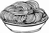 Coloring Pasta Spaghetti Pages Sheet Clipart Template Noodles Delicious Meatballs Children Espaguetis Dozens sketch template