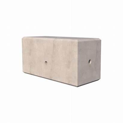 Concrete Ballast Block Blocks Kentledge 850kg Render