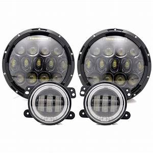 Turbosii 7 U0026quot  Round Dot Approved Led Headlights Hi  Lo Beam W