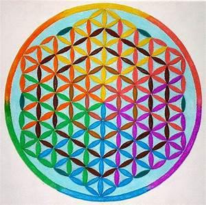 Spectrum flower of life mandala by Aneniko on DeviantArt