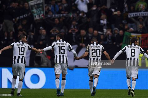 Players of Juventus FC celebrate after winning the Serie A ...