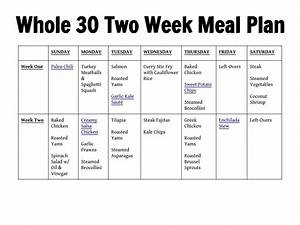 Weekly meal plans for two pertaminico for Two week meal plan template
