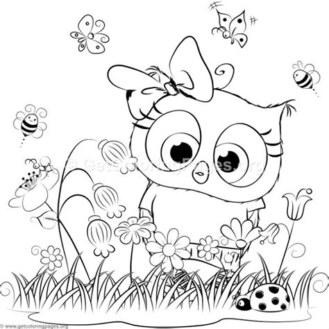 cute owl  coloring pages getcoloringpagesorg