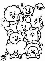 Bt21 Coloring Pages Fun sketch template