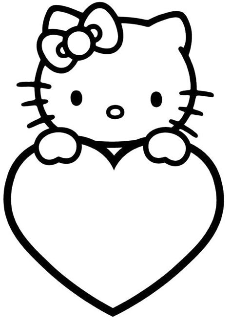 kitty valentines day coloring pages valentines