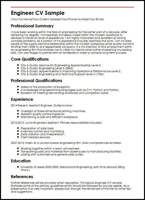 Technical Cv by Cv Format For Engineers How To Write An Engineering Cv