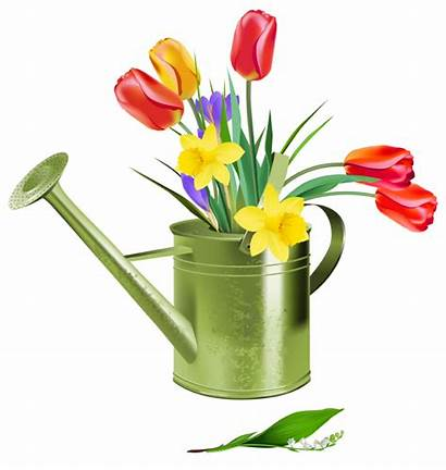 Watering Clipart Spring Flowers Wikiclipart