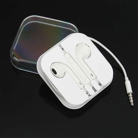 apple iphone headphones headset earphone earbuds with remote mic volume for apple