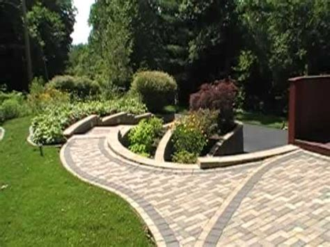 retaining wall patio design retaining wall patio paver design installation youtube