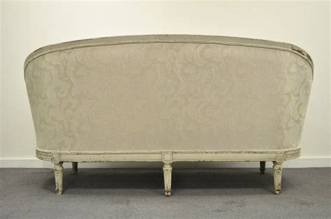 canapé louis louis xvi style distress painted ovoid carved