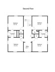 square house floor plans american foursquare house plans unique house plans