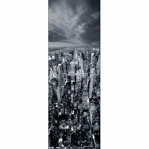 Papier Peint Rayé Noir Et Blanc : papier peint l unique new york noir et blanc stickers muraux deco ~ Preciouscoupons.com Idées de Décoration