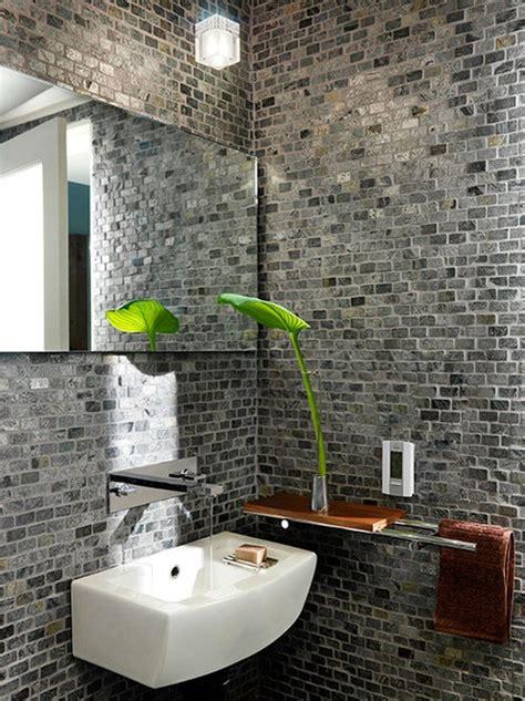 stylish bathrooms  brick walls  ceilings digsdigs