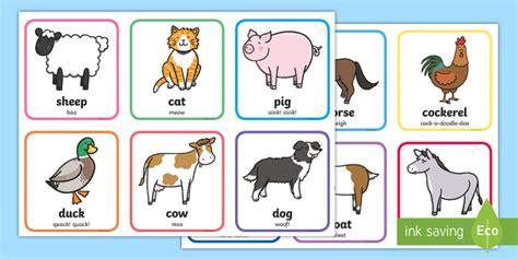 cute farm animals matching cards ks teacher