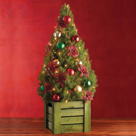 live decorated tabletop christmas trees delivered
