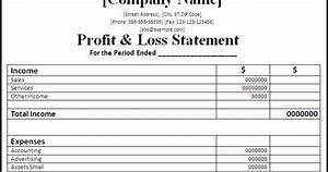 The Crime and Passion Blog: Profit and Loss Statements for ...