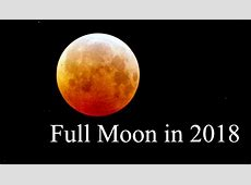 Moon Phases in 2018 Full Moon Calendar Tarot Astrology