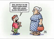 Zlatan von Harm Bengen Sport Cartoon TOONPOOL