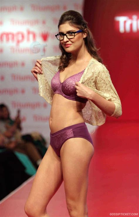hot bikini fashion show in india a model walks on the r during the triumph international