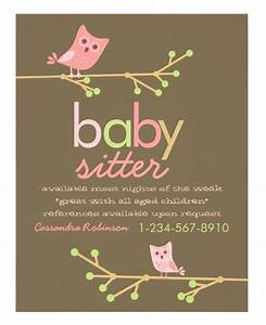 babysitting flyers example pictures With babysitting poster template