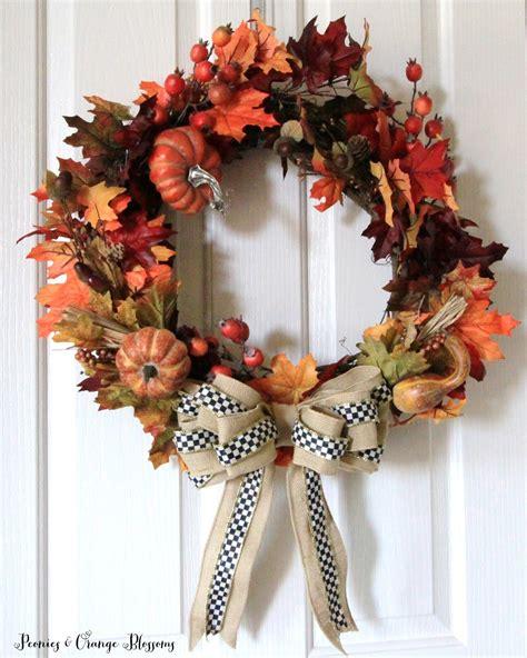 Mackenzie Childs Pumpkins Diy by Peonies And Orange Blossoms Diy Fall Wreath Tutorial