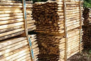 Piquet De Cloture Bois Acacia : fabriquer cl ture en bois pas cher ~ Dailycaller-alerts.com Idées de Décoration