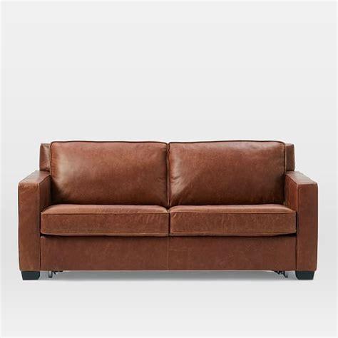 Leather Loveseat Sleeper Sofa by Henry Leather Sleeper Sofa Tobacco New York Apartment