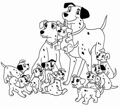 Coloring Pages Dalmatians Animal 101 Dog Dalmatian