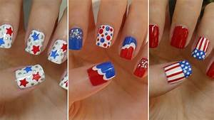 Fourth of july nails three easy designs