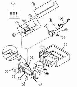 Cabinet Controls Diagram  U0026 Parts List For Model Ssgt09wf
