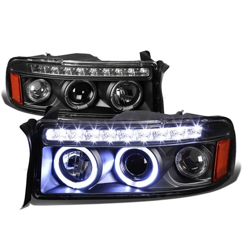 94 01 dodge ram 1500 2500 3500 eye halo led