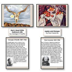 art nomenclature  matching cards montessori