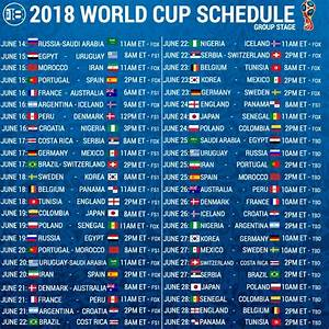 Fifa World Cup 2018 Schedule  Fixtures  Dates  Start Times