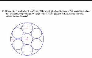 Radius Eines Kreises Berechnen : welcher teil der fl che des gro en kreises wird von den 7 kleinen kreisen bedeckt mathe ~ Themetempest.com Abrechnung