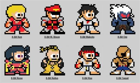 Fighter 8 Bit Character Template