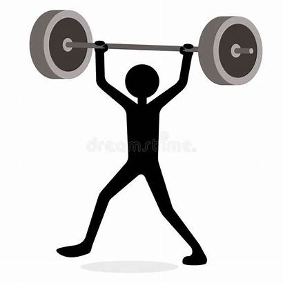 Lifting Weights Cartoon Funny Weight Concept Lifter