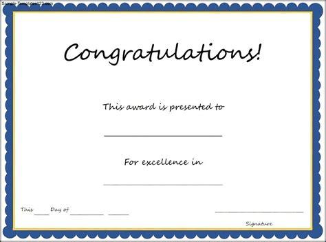 congratulations certificate templates congratulations certificate template
