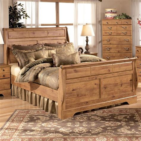 signature design by ashley bittersweet king sleigh bed