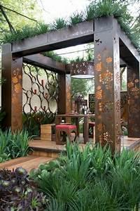 Pergola Holz Modern : glas pergola markise gr n berdachte terrasse modern holz ~ Michelbontemps.com Haus und Dekorationen