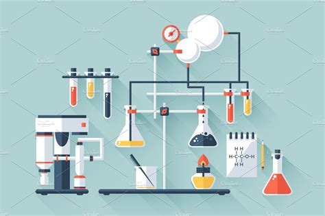 laboratorio test chemistry laboratory illustrations creative market