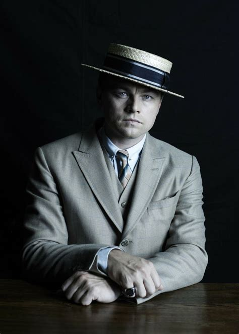 Leonardo Di Caprio In His Great Gatsby Boater Hat