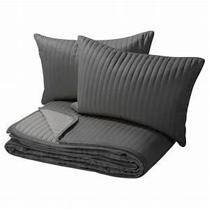 Couvre Lit Matelassé Ikea : karit couvre lit et 2 housses coussin gris 260x280 40x60 cm ikea id es d co pour la ~ Melissatoandfro.com Idées de Décoration