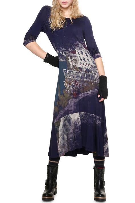 Desigual tmavo modré šaty Soul - Dámske Šaty • Differenta.sk
