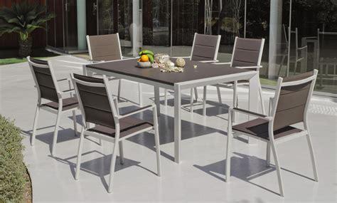 chaise aluminium exterieur emejing salon de jardin aluminium couleur taupe photos